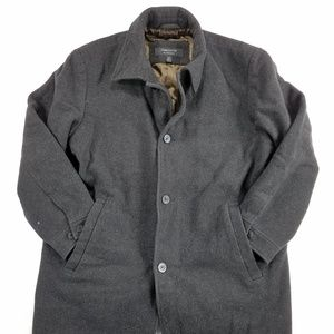 Claiborn Outerwear Mens Pure Wool Jacket Coat
